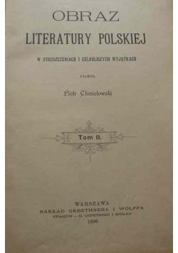 Obraz Literatury Polskiej Tom II, 1898r.