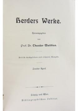 Herders Werke Herausgegeben,. Zweiter Band, 1895
