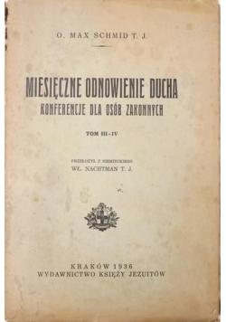 Miesięczne odnowienie ducha, t.V 1936 r.