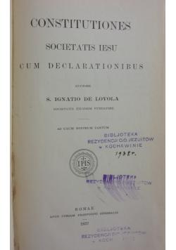 Constitutiones, 1937r.