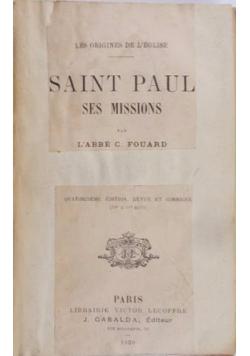Saint Paul, Ses Missions, 1920 r.