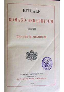 Rituale Romano-seraphicum, 1910 r.