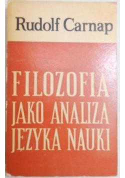 Filozofia jako analiza języka nauki, wydanie I