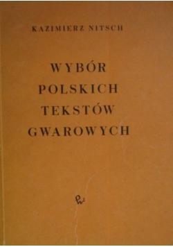 Wybór polskich tekstów gwarowych