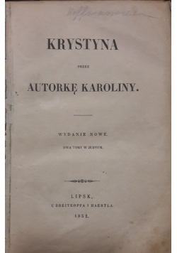Krystyna, 1852 r.