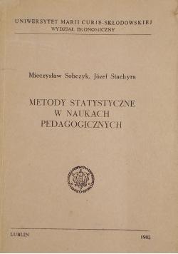 Metody statystyczne w naukach pedagogicznych