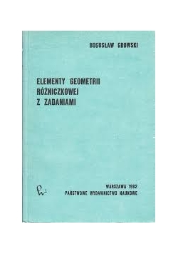 Elementy geometrii różniczkowej z zadaniami