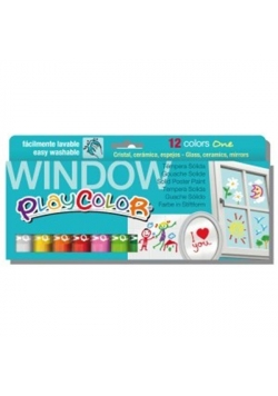 Farby w sztyfcie One Window 12 kolorów PLAYCOLOR