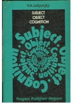 Subiect obiect cognition