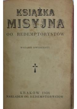 Książka misyjna, 1936 r.