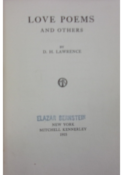 Love poems and others, 1915
