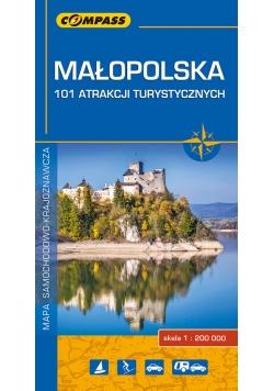 Małopolska - 101 atrakcji turystycznych 1:200 000