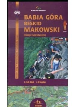 Babia Góra i Beskid Makowski mapa