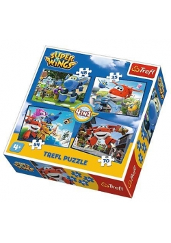 Puzzle 4w1 Odlotowa paczka Super Wings TREFL