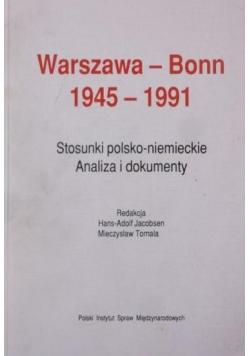 Warszawa - Bonn 1945 - 1991