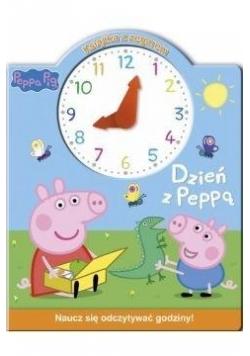 Świnka Peppa. Książka z zegarem. Dzień z Peppą