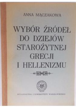 Wybór źródeł do dziejów starożytnej Grecji i helenizmu