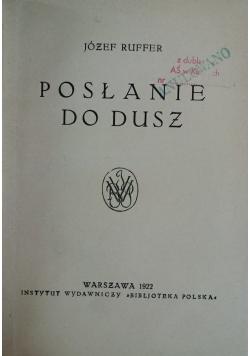 Posłanie do dusz, 1922r