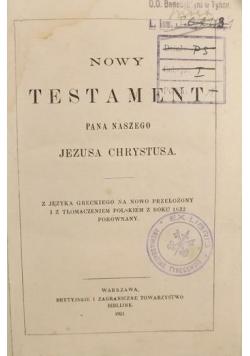 Nowy Testament Pana Naszego Jezusa Chrystusa, 1921 r.