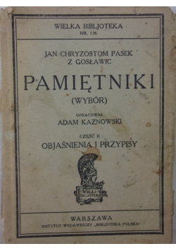 Jan Chryzostom Pasek Pamiętniki (wybór)