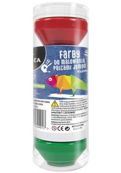 Farby do malowania palcami Jumbo 4 kolory KIDEA