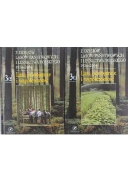 Z dziejów lasów państwowych i leśnictwa polskiego 1924-2004. Lata powojenne i współczesność zestaw 2 książek