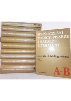 Współcześni polscy pisarze i badacze literatury - słownik bibliograficzny , Tom I-X