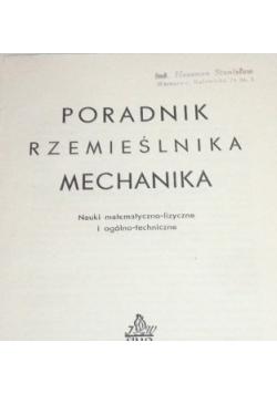 Poradnik Rzemieślnika - mechanika, 1949 r.