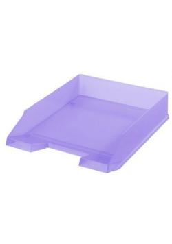 Szuflada na dokumenty transparentna pastel liliowa