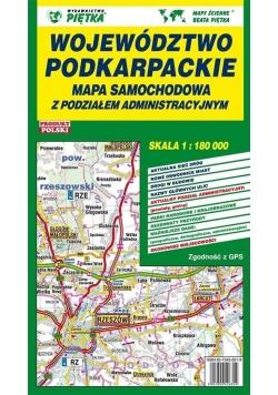 Województwo Podkarpackie 1:180 000 mapa samoch.