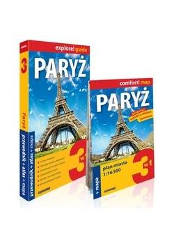 Paryż 3w1, przewodnik + atlas + mapa