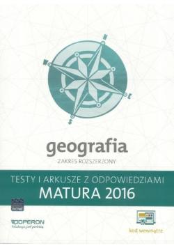 Matura 2016 Geografia. Testy i Arkusze ZR OPERON