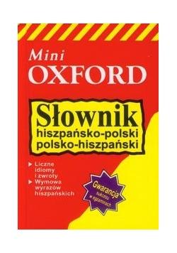 Słownik hiszpańsko-polski, polsko-hiszpański mini, nowy