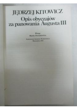 Opis obyczajów za panowania Augusta III
