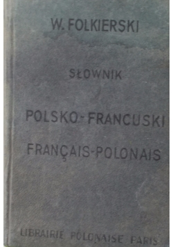 Słownik Polsko - Francuski , miniatura