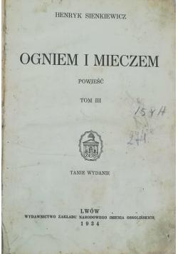 Ogniem i mieczem, tom III i IV, 1934 r.