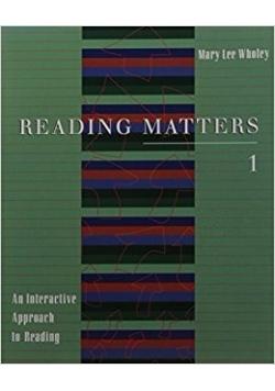 Reading matters 1