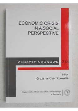 Economic Crisis in a Social Perspective