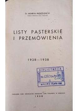 Listy pasterskie i przemówienia, 1938 r.