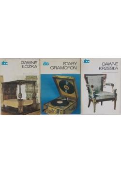 Dawne krzesła/Stary gramofon/Dawne łóżka