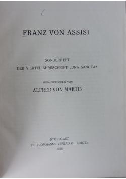 Franz von Assisi, 1926 r.