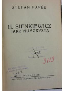 Jako humorysta, 1921 r.