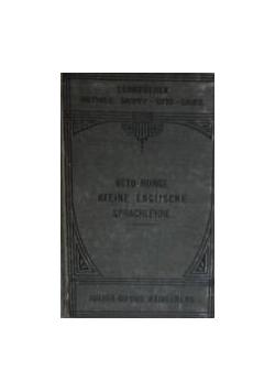 Englifche Sprachlehre,1909r.