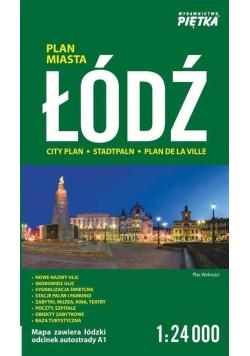 Łódź 1:24 000 plan miasta PIĘTKA