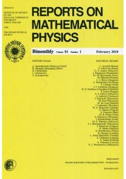 Reports on Mathematical Physics 81/1 2018
