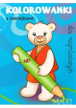 Kolorowanki dla najmłodszych z naklejkami - MAXI 4