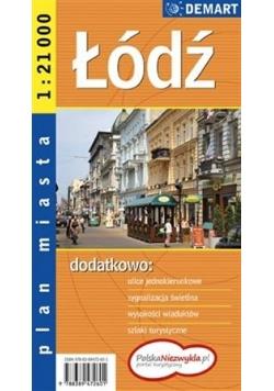 Plan miasta - Łódź 1:21 000 DEMART