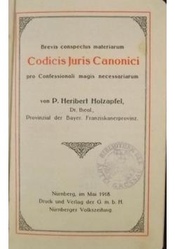 Codicis Juris Canonici, 1918 r.