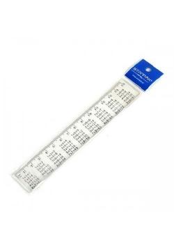 Linijka 15cm plastikowa z tabliczką mnożenia