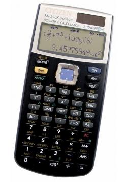 Kalkulator naukowy CITIZEN SR-270XCFS, 10+2-cyfrowy